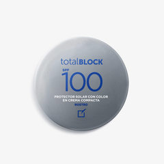TOTAL BLOCK SPF 100 PROTECTOR COMPACTO CON COLOR