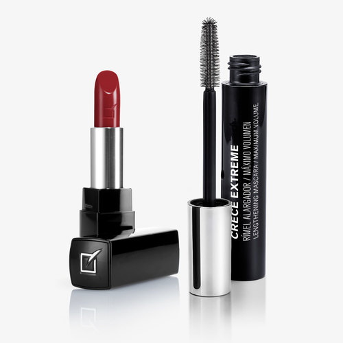 Hydra-lip Intense Color Lipstick + Crece Extreme Mascara Set